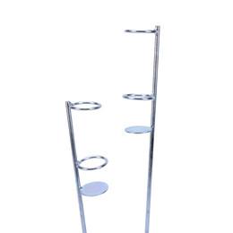 Ganchos de trilhos on-line-Vara de pesca de aço inoxidável automática Única mola Tip-Up Hook Setter Suporte de vara de pesca Suporte de vara Suporte Rack + rastreamento