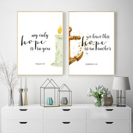 Bible Verses Hope Quotes Canvas Posters Print Scripture Christian Wall Art Painting Watercolor Living Room Home Decor