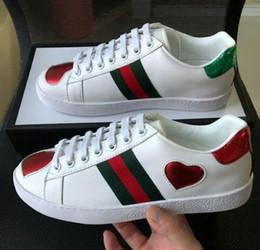 2019 Nouveau créateur de mode ACE Casual Shoes brodé coeur bande d'amour bande élastique Unisexe Bas-Top Sneaker meilleure qualité à vendre ? partir de fabricateur
