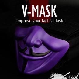 WoSporT V-Mask Tactical Halloween Party Devil Half Face Mask Tessuto TPU 16 * 13 (cm) 9 colori da maschera per freddo fornitori