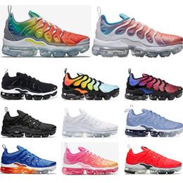 d6386b93b6 nike air vapormax Neue Laufschuhe für Herren PURE PLATINUM Rainbow Red  China Work Bule Pink Sea Volt weiß schwarz Damen Sport Sneaker Trainer  Größe 36-45
