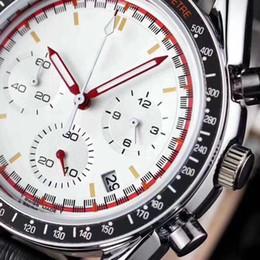 2019 relógio de três agulhas Correndo Cronômetro Homens Assista Três Olhos Seis Agulhas De Luxo Relógios De Pulso De Quartzo Moda Calendário Pulseira De Couro À Prova D 'Água Mens Relógios desconto relógio de três agulhas