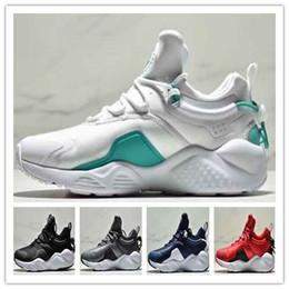 A buon mercato in movimento online-Huarache 8 Air Shoes city move fashion Nero Bianco scarpe da ginnastica da ginnastica sneaker da uomo firmate Escursionismo da jogging all'aperto scarpe sportive a buon mercato