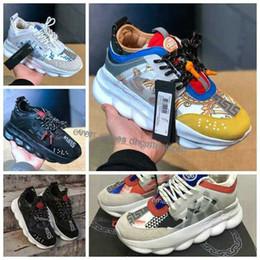 chaussures italie marques pour hommes Promotion 2019 Chain Reaction Tribute Sneakers Italie Marque de luxe Femmes Hommes Medusa Chaussures de course Designer Flats Medusa Chaussures 36-45