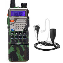 Langstrecken-walkie talkie uhf online-BaoFeng UV-5RE 8W Walkie Talkie mit hoher Leistung 3800mah 10km Uhf Vhf-Reichweite UV5RE CB Portable Ham Radio Headset