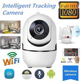 piccola telecamera interna ip Sconti Wireless IP intelligente WiFi HD 1080P IR-cut Tracking automatico PTZ bidirezionale Supporto per telecamera audio 64G TF Card