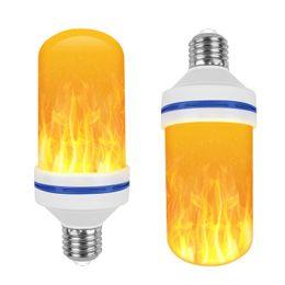 огонь из лампы Скидка Creative 3 режима + датчик гравитации Пламя света E27 светодиодный эффект пламени огонь лампочка 7W Мерцающая эмуляция Декор Лампа