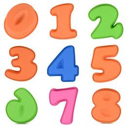 Bolos de números on-line-Números Forma Silicone Resistente À Temperatura Digital em Forma de Cozimento Molde DIY Ferramentas de Decoração do Bolo de Chocolate Modelo SSA219