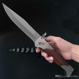 facas solingen Desconto Atacado Grande M9 UT85 D2 150-10 HALO V 5 3300 3350 CA07 A161 faca Tático automático borda Única camping survival sobrevivência bolso faca