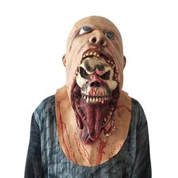máscara de luxo de penas Desconto Máscara de Halloween Máscara de Horror Do Crânio de Emulsão Assustadora Pele de Látex Zombie para Traje Masquerade Festas de Aniversário de Carnaval Maks