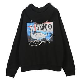 Hässliche drucke online-Graffiti Hässliche Enten-Druck Fleece mit Kapuze Sweatshirts, Hoodies Street Männer Harajuku Hip Hop Lässige PulloverHoodie Tops