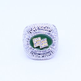 anillos grises de la taza Rebajas Anillo clásico para hombre Ring2015 Edmonton Eskimos Grey Cup Championship con caja de madera Regalo de la gota Envío