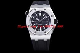 Melhor pulseira de relógio de aço inoxidável on-line-Melhor Relógios V7 Versão 42mm Cal.3120 Automático Mens Watch 15703ST.OO.A002CA.01 Aço Inoxidável Preto Dial Rubber Bracelet Diver