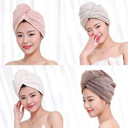 Involucro testa online-Dopo la doccia Asciugatura dei capelli Wrap Novità in microfibra Womens Girls Asciugamani da donna Quick Dry Hair Cap Cap Turban Head Wrap Bathing Tools