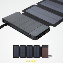 2019 cargador portátil grande Paneles solares Cargador de energía solar plegable de 8 W Banco de energía de gran capacidad Cargador de teléfono portátil universal Turismo Batería externa