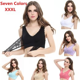 57624299125 Women Sexy Seamless Padded Push Up Bra Post-Surgery Wireless Brassiere Bra  with Padded Underwear Breathable Lace Bras Bralette