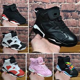 new product bd445 eb8f3 Nike Air Jordan 6 Retro Kinder Classic 6s UNC Chicago weiß Infrarot niedrig  Spiderman Iron Man Basketballschuhe 6 Karminrot Oreo schwarze Katze ...
