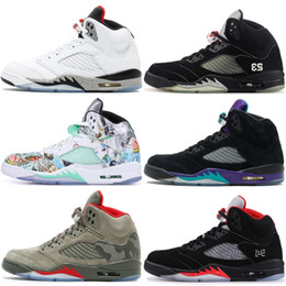 8ae6b8ea9 5 5s Mens Basketball Shoes Camo Wings Pro Stars Black Metallic Laney Saint  Germain AAA Quality 2019 New Athletics Sneaker discount athletic shoes camo