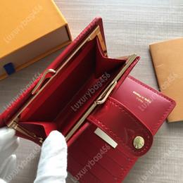Design de embalagem vintage on-line-2019 moda quente em relevo carteira de couro de patente designer Premium pacote de cartão de moeda design Perfeito ideal para M93652