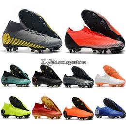 Canada Chaussure de football à crampons de haute qualité pour hommes, chaussures de football, chaussures à ongles en acier, Mercurial Superfly VI Elite SG Offre