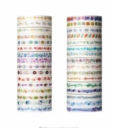 Scrapbooking flowers stickers en Ligne-26 Plantes Fleurs Aquarelle Peinture Ruban Décoratif Adhésif Washi Bandes Papier Autocollants Pour Scrapbooking