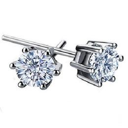 925 sterling silver Crown forma Zircon Brincos Coréia Europa para As Mulheres de Jóias de casamento preço de Fábrica de vendas Elegante Não desvanece-se Brincos de Presente pl de