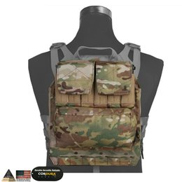 Paintball mochilas online-EMS Back Pack Zip en el Panel Para AVS JPC 2.0 CPC Chaleco Caza Airsoft Paintball Combate Mochila Multicam Negro