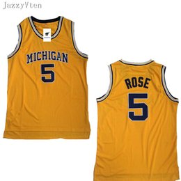 Maillots de haute qualité Michigan Wolverines 5 Jalen Rose 25 Maillots Dwight Howard 4 Chris Webber University Mens College Jersey Basketball Jerseys ? partir de fabricateur