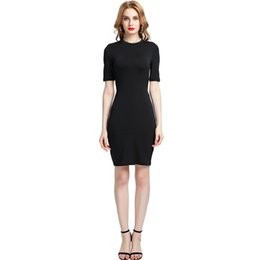 2019 New Fashion Sexy Autumn Winter Women Strappy Mini Dress Hollow Out  Back O-Neck Short Sleeve Night Club Party Dress a9328248f