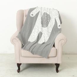 mois année accessoires bébé Promotion Couverture de coton tricoté par bébé automne hiver forme d'ours enfants jeter couverture canapé couverture de lit