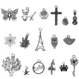2019 massencharme 200 Stück Charms für Schmuckherstellung Großhandel Bulk, Mixed Tibetan Silver Charms Anhänger für DIY Halskette Armband günstig massencharme