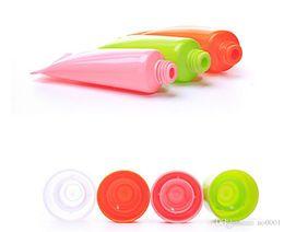 Contenitore vuoto del tubo gel online-1000pcs 10ml tubi molli Vuoto emulsione cosmetica Contenitori Shampoo Gel Doccia imballaggio del tubo