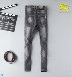 Il la cosa migliore 2019 nuovo disegno di modo per gli uomini di alta qualità ed i jeans squisiti di edizione coreana ricamano i piccoli diritti