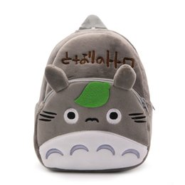 school toy bag for boys Promo Codes - Cute Totoro Plush Backpacks Baby Kindergarten Cartoon School Bags For Kindergarten Boys Girls kids Lovely Candy Bag toys gift