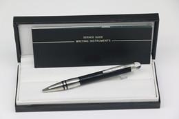 caneta esferográfica de cristal Desconto Luxo Classi Design Caneta esferográfica Topo preto para baixo corpo de prata com treliça de cristal da tampa da cabeça Guarnição de prata de aço inoxidável