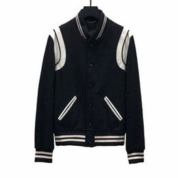 e754089898b8f Best Version Luxury European Jacket Classic Black And White Baseball Jacket  Men And Women High Quality Fashion Jacket HFBYJK240