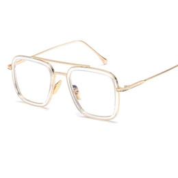 vetri dell'annata oversize all'ingrosso Sconti All'ingrosso-Moda Occhiali da sole oversize Uomini Donne Designer brand Double Beam Occhiali da sole Vintage Metal Frame Mirror Sunglass Shades