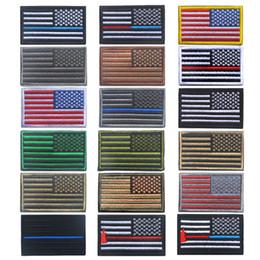 Parches de banderas tácticas online-8 * 5cm Parches bordados para la bandera Insignia del ejército Parche para la bandera de EE. UU. Parches tácticos duraderos en 3D Banderas nacionales Insignia Gancho de bucle Sujetador 18 estilos G837F
