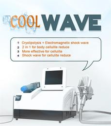 macchine di raffreddamento Sconti 2018 La più recente terapia ad onde d'urto radiali con impugnatura per criolipolisi / macchina portatile ad onde d'urto per la criolipolisi per la perdita di peso