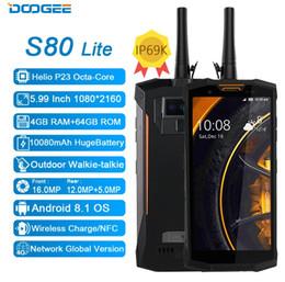 loja de carregador sem fio Desconto Doogee S80 lite Dupla 4G 64G IP68 IP69K 10080 mAh 5,99