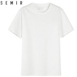 Semir Men T Shirt Moda 2018 Algodón Camisetas para hombre Camiseta blanca Casual Summer Tshirts Hombres Camiseta Masculina Ropa Top Q190415 desde fabricantes