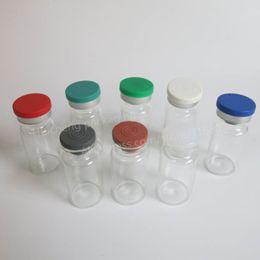 Колпачки для флаконов онлайн-Откидная крышка для стеклянной бутылки 500 / серия 8MLlear, стеклянная сыворотка 8CC, лекарство, пробирки для инъекций