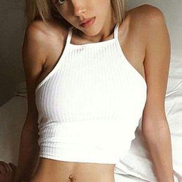 sommer häkelpullover Rabatt Frauen sommer sport yoga shirt camis schwarz weiß baumwolle häkeln weste hängenden hals crop pullover fitness tops gym m08