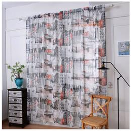 2019 cortina estilos plissados 1 PC Bandeira Nacional Cortinas de Tule Porta Voile Janela Do Quarto Cortinas Drape Sheer Cachecol Saias Para Sala de estar cozinha