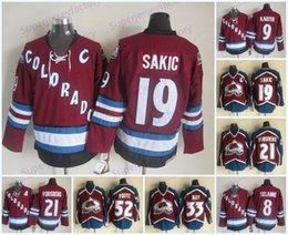 2021 ritorno a forsberg Cheap Colorado Avalanche 9 Paul Kariya 21 Peter Forsberg 33 Patrick Roy 52 Adamo Foote Red CCM Throwback in maglia in maglia