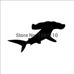 Decalques de carro de tubarão on-line-HotMeiNi Atacado 20 pçs / lote Hammerhead Tubarão Decalque De Vinil Subaquático peixe de praia 8 Cores adesivo de carro LIVRE grátis