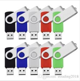 Palo de ordenador portátil usb online-Comercio al por mayor 10 UNIDS 8 GB USB Flash Drive Swivel Pulgar Pendrives Memoria USB 2.0 Palos de memoria True Storage para computadora Laptop Multi colores