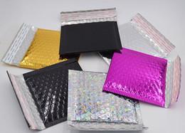 Paquets à bulles en Ligne-Petite bulle mailing enveloppe sac emballage expédition Bubble Mailers sac enveloppes rembourrées cadeau wrap sac 15 * 13 cm