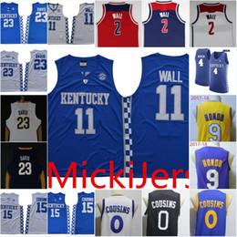 048ddbd2ea8f Chinese Mens NCAA Kentucky Wildcats John Wall Basketball Jersey Stitched  4 Rajon  Rondo  23