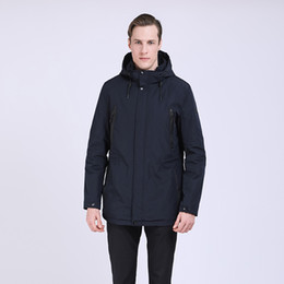 96a8105bf3c TALIFECK 2019 Men s New spring autumn Jacket Men Brand clothing quality  Fashion style Long Coats Men Cotton Jackets Parka Male